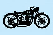 pic of homogeneous  - vector illustration of retro motorcycle isolated on a homogeneous background - JPG