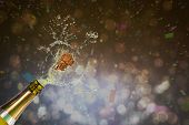 picture of champagne color  - Flying colours against champagne popping - JPG