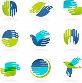 foto of non-profit  - Collection of Hands icons and symbols - JPG
