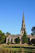 stock photo of church-of-england  - Parish Church of Saint Oswald Ashbourne Derbyshire England UK Western Europe - JPG