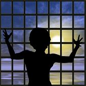 picture of slaves  - Desperate female captive - JPG