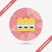 image of sandwich  - Sandwich Flat Icon With Long Shadow - JPG