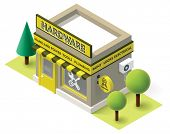 picture of hardware  - Vector isometric hardware shop building icon - JPG