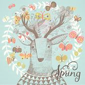 stock photo of incredible  - Sweet spring card in vector - JPG