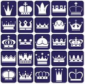 foto of crown jewels  - white icons on blue background on royal crown - JPG