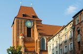 stock photo of church  - A gothic church in Torun - JPG