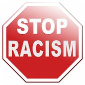 stock photo of racial discrimination  - no racism stop discrimination equal rights before it - JPG