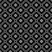pic of maltese-cross  - Black and White Maltese Cross Symbol Tile Pattern Repeat Background that is seamless and repeats - JPG