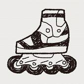 picture of roller-skating  - Roller Skate Doodle - JPG