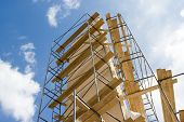 stock photo of scaffold  - Industrial construction - JPG