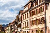 stock photo of timber  - Traditional timbered houses in Bergheim  - JPG