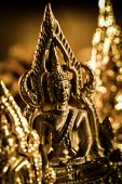 stock photo of buddha  - Buddha statues Face of gold buddha Thailand Asia - JPG
