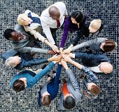 stock photo of coworkers  - Business People Cooperation Coworker Team Concept - JPG