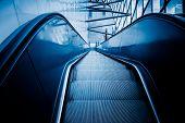 picture of escalator  - escalator of modern office building - JPG