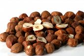pic of cobnuts  - Hazelnuts on white background  - JPG