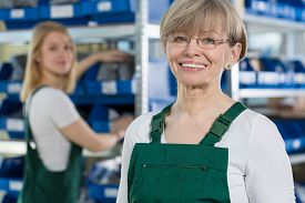 picture of blue-collar-worker  - Female blue - JPG
