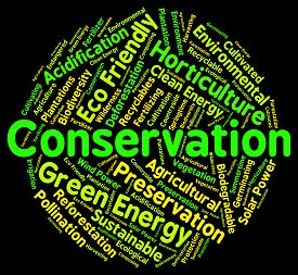 pic of environmentally friendly  - Conservation Word Representing Eco Friendly And Environmentally - JPG