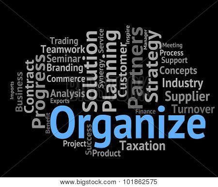 Organize Word Means Manage Structure And Words Poster ID ...