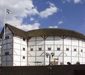 pic of william shakespeare  - the rebuilt globe theatre london england famous for plays by william shakespeare - JPG