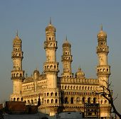 stock photo of charminar  - side view of charminar late in the day - JPG