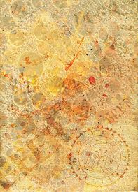 pic of bubble sheet  - Abstract paper background with stamp and beer bubbles - JPG