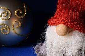 stock photo of gnome  - Christmas card  - JPG
