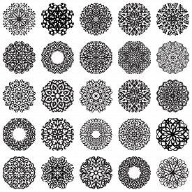 stock photo of motif  - Set of Round Ornaments - JPG
