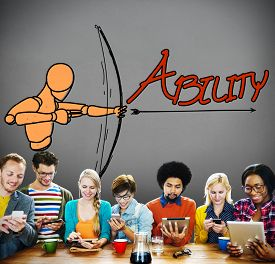 picture of archery  - Ability Talent Strength Archery Aim Concept - JPG