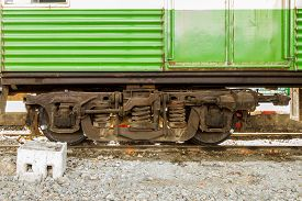 pic of train-wheel  - Low angle view of wheel of vintage train background - JPG