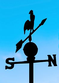 picture of wind vanes  - shadow wind vane for measuring wind direction with a and the cardinal points - JPG