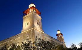 stock photo of amman  - King Hussein Bin Talal mosque in Amman  - JPG