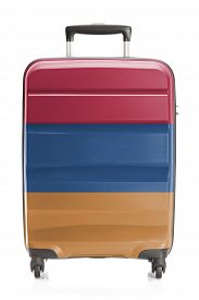 stock photo of armenia  - Suitcase painted into national flag series  - JPG