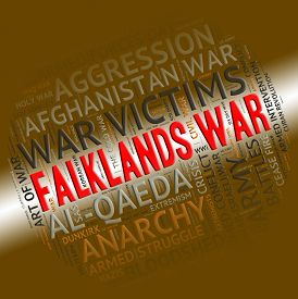 picture of falklands  - Falklands War Indicating Military Action And Clashes - JPG