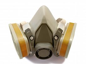 image of respirator  - Toxic dust respirator isolated on white background - JPG