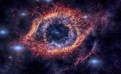 Helix Nebula Is A Large Planetary Nebula Located In The Constellation Aquarius. poster
