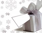pic of christmas-present  - pretty present with tag to write on - JPG