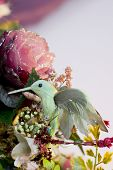 picture of tawdry  - tacky hummingbird and flowers - JPG