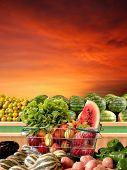 Постер, плакат: овощи