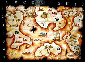 image of treasure map  - hand painted treasure map i designed for kids play group - JPG