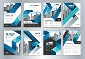 Set Of Annual Report Brochure Flyer Design Template. Leaflet Cover Presentation Abstract Background  poster