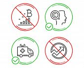 Do Or Stop. Writer, Bitcoin Graph And Ambulance Car Icons Simple Set. Audit Sign. Copyrighter, Crypt poster