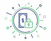 Private Payment Line Icon. Dollar Sign. Finance Symbol. Quality Design Elements. Technology Private  poster