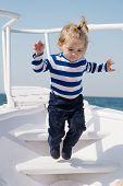 Memories Made Together Last Lifetime. Baby Boy Enjoy Vacation Sea Cruise Ship. Child Sailor. Boy Sai poster