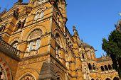 pic of british bombay  - Victoria Terminus Train Station in Mumbai  - JPG