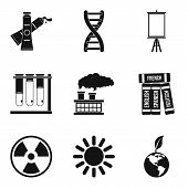 Environment Study Icons Set. Simple Set Of 9 Environment Study Icons For Web Isolated On White Backg poster