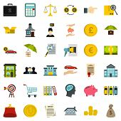 Accommodation Icons Set. Flat Style Of 36 Accommodation Icons For Web Isolated On White Background poster