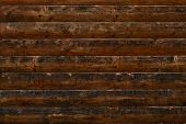 Old Shabby Wooden Planks. Dark Brown Wooden Grunge Surface. Shabby Dark Wood Texture. Brown Old Wood poster