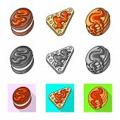 Isolated Object Of Confectionery And Culinary Icon. Set Of Confectionery And Product Vector Icon For poster