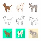 Vector Design Of Breeding And Kitchen  Sign. Collection Of Breeding And Organic  Vector Icon For Sto poster