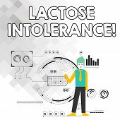 Word Writing Text Lactose Intolerance. Business Concept For Digestive Problem Where Body Is Unable T poster
